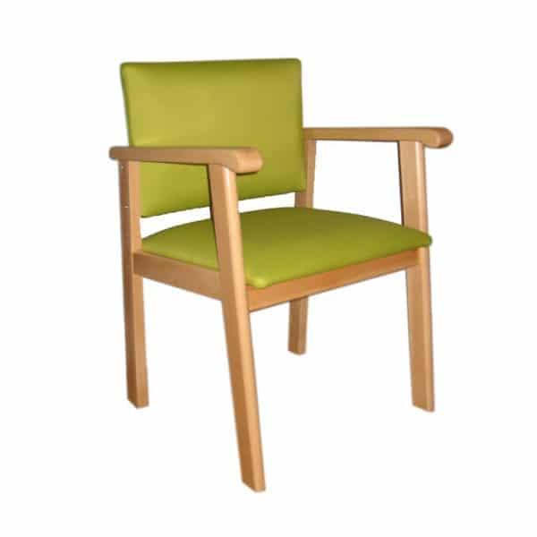 Mobiliario geriatrico sillon verde