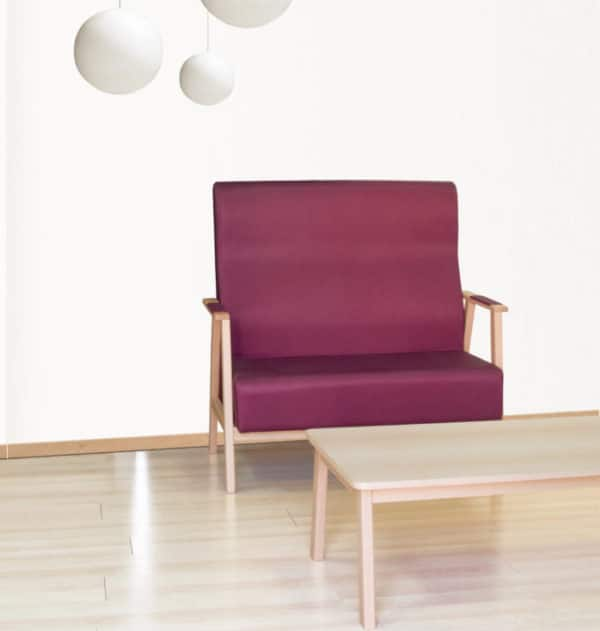 Serie UNNA sillas sillones butacas sillón Mobiliario Geriátrico vista 3