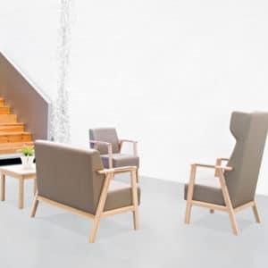 Serie UNNA sillas sillones butacas sillón Mobiliario Geriátrico vista 4