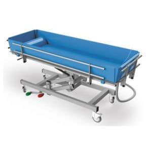 Carro de lavado hidráulico para personas dependientes