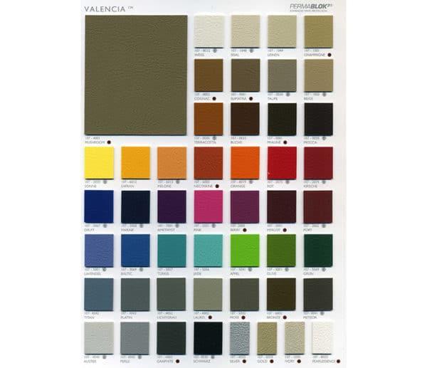 carta colores mobiliario geriátrico