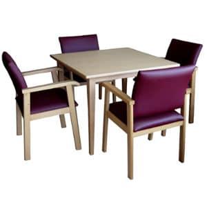 Mesa de comedor mobiliario geriátrico residencias mayores