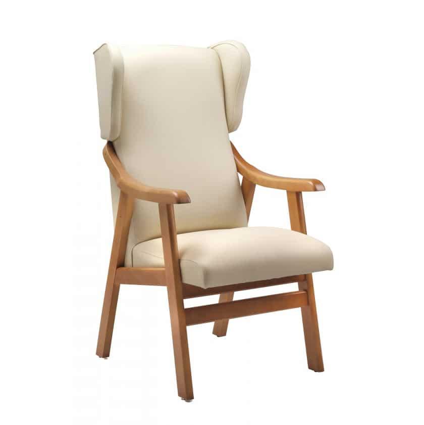 sillón geriátrico con respaldo alto con orejeros mobiliario geriátrico residencias mayores MG17
