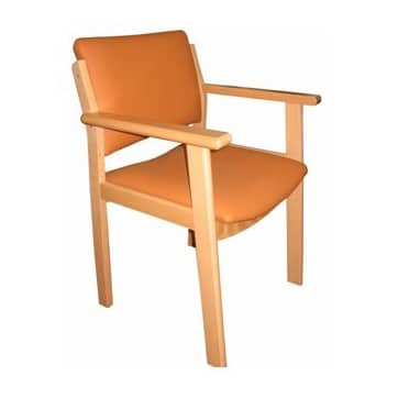 silla geriátrica con brazos madera haya maciza MG12 residencia mayores