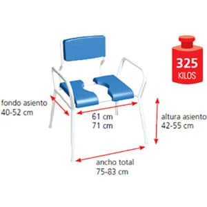 silla de higiene bariátricos Fiji-02
