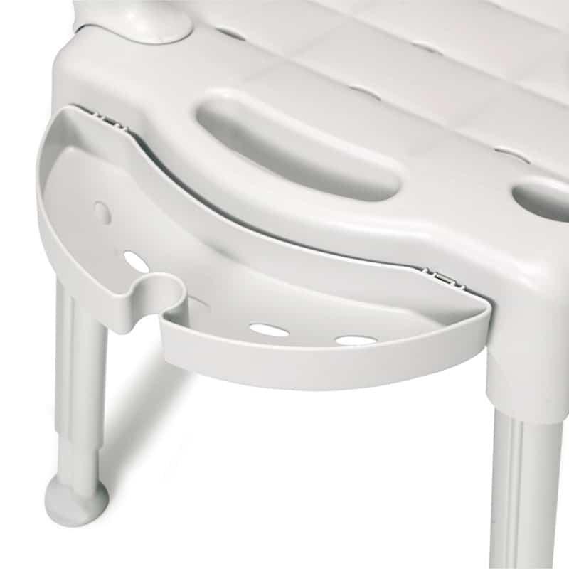 Silla de ducha convertible en taburete para baños adaptados